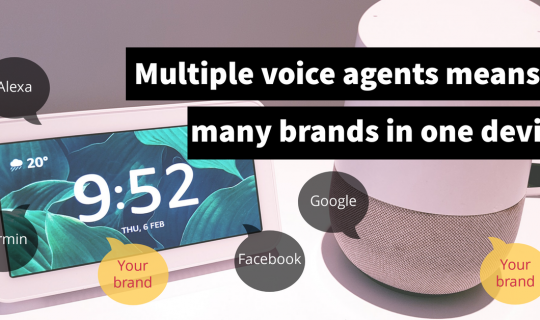 Multiple simultaneous voice agents means many brands in one device